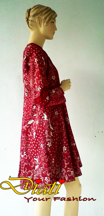 Dress batik lengan panjang