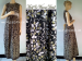 Long dress batik tanpa lengan