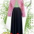 Truntum long dress batik combination