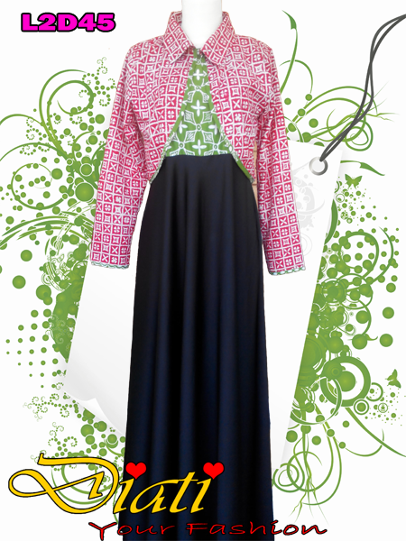 long dress batik muslimah