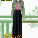 Inner And Outer Long Dress Batik
