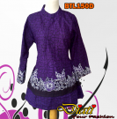 Purple blouse batik